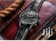 Chronograph Leather All Black Men Business Watch | Watches for sale in Greater Accra, Achimota
