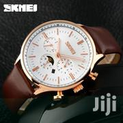 Rosegold Brown Leather Skmei Watch | Watches for sale in Greater Accra, Achimota