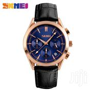 Skmei Genuine Leather Slimfit Watch - Blue | Watches for sale in Greater Accra, Achimota