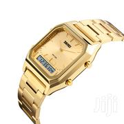 Dual Time Skmei Gold Chain Strap Watch   Watches for sale in Greater Accra, Achimota