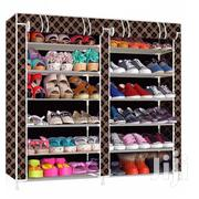 12 Tier Portable Shoe Wardrobe - Brown/Gold | Furniture for sale in Greater Accra, Tema Metropolitan