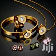 CZ Stone Jewelry Set 316L Stainless Steel Interchangeable GOLD Necklac   Jewelry for sale in Greater Accra, Adabraka